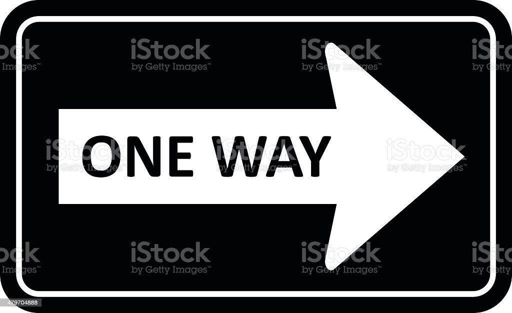 One Way Sign vector vector art illustration