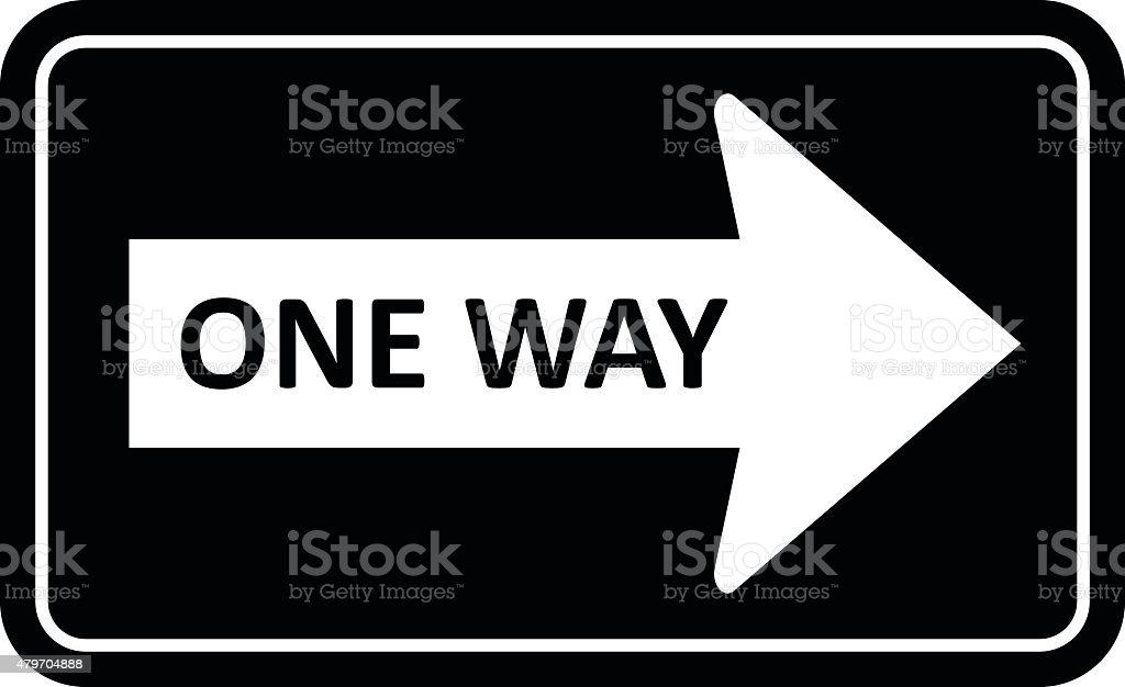 One Way Sign vector vector art illustration
