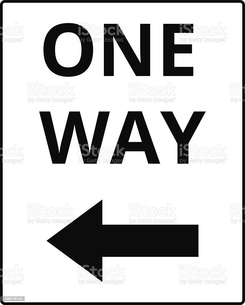 One way signs vector art illustration
