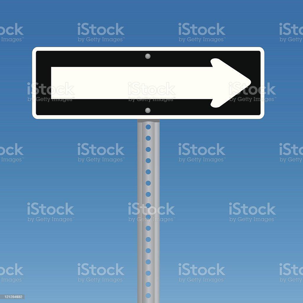 one way vector art illustration