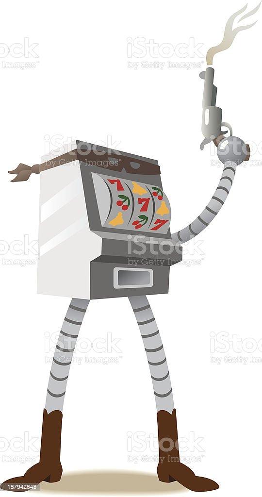 one-armed bandit slot machine royalty-free stock vector art