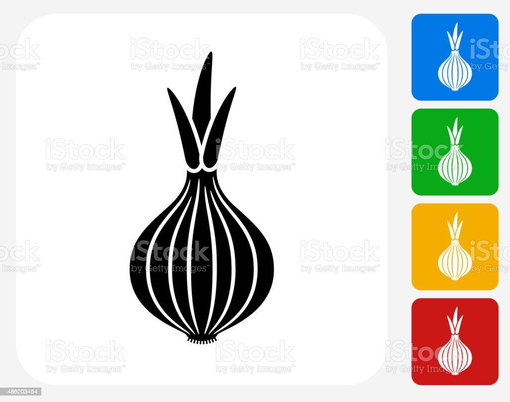 Onion Icon Flat Graphic Design vector art illustration