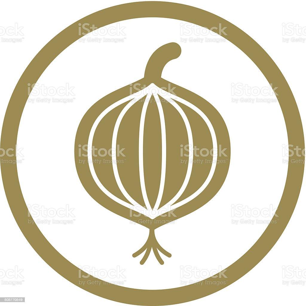 Onion vector icon. vector art illustration