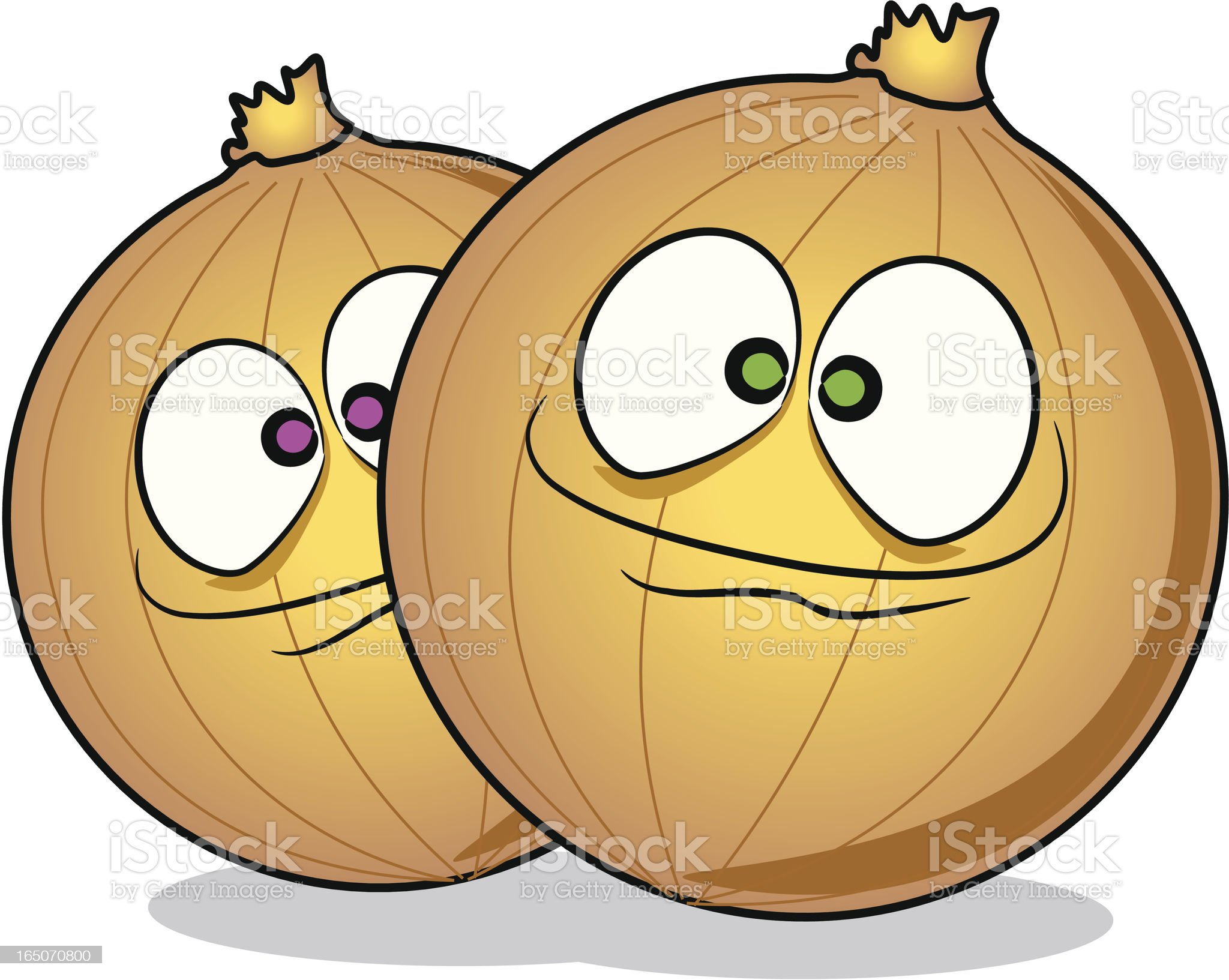 Onions Cartoon royalty-free stock vector art