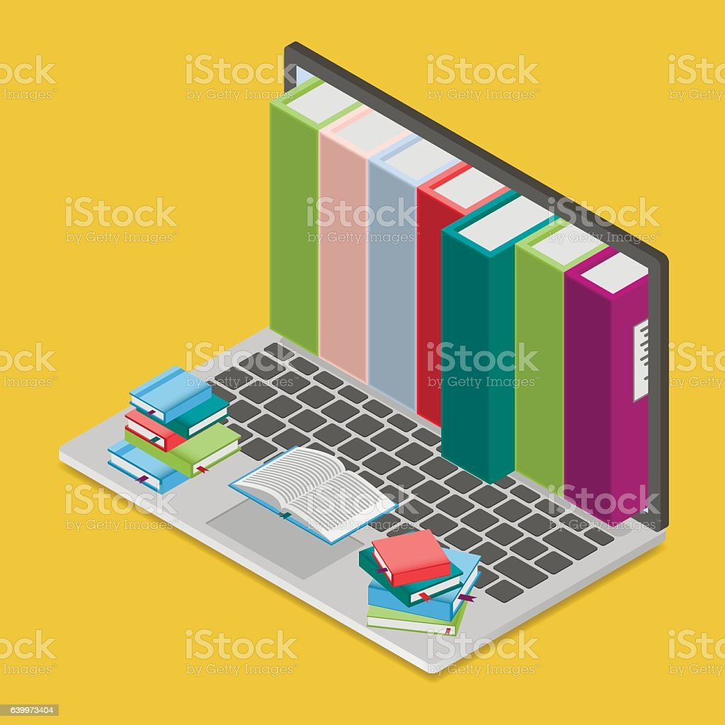 Online Books Shop Royaltyfree Stock Vector Art