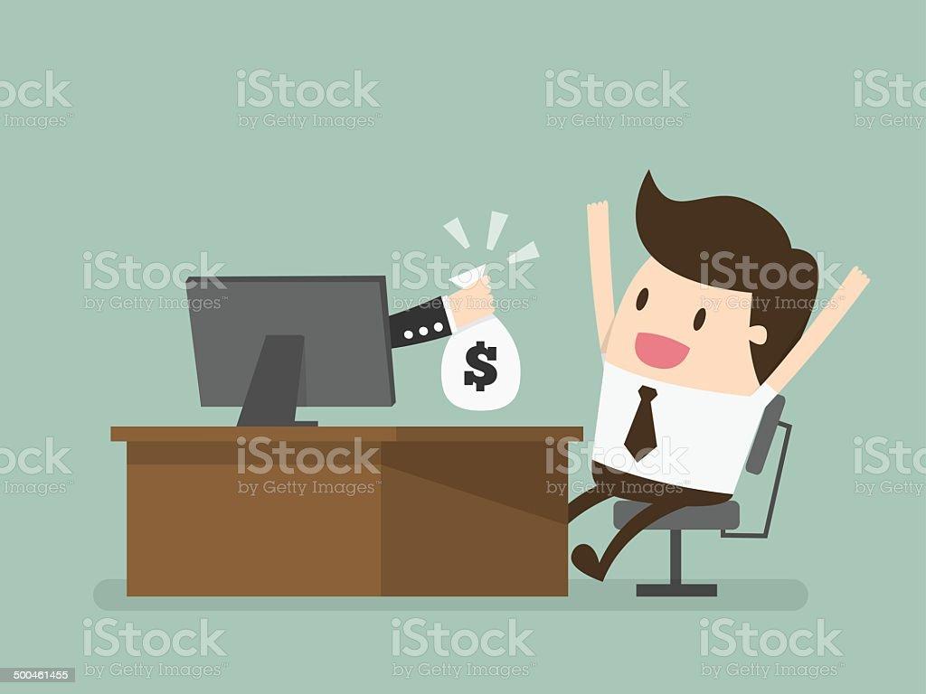 online business vector art illustration