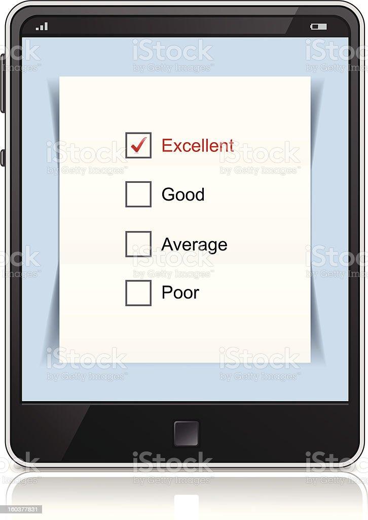 Online customer service satisfaction survey royalty-free stock vector art