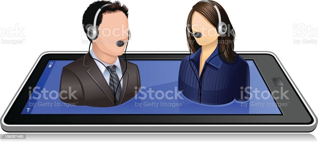 Online Customer Supporting Team royalty-free stock vector art