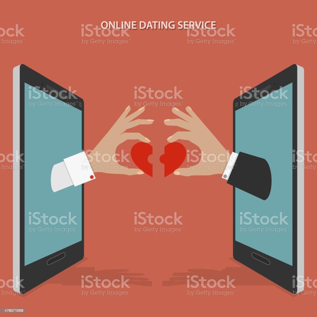Online dating service vector concept. vector art illustration