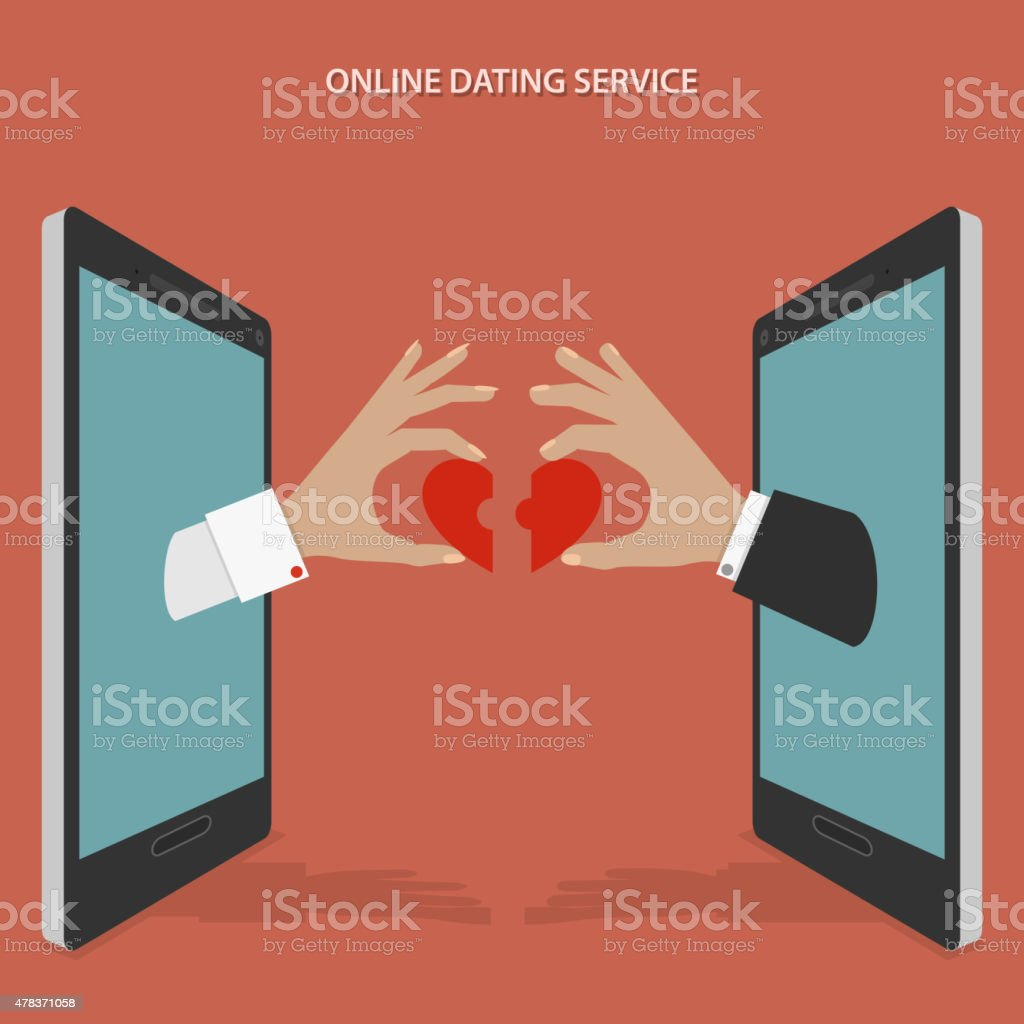 Online dating service vector concept. vector art illustration