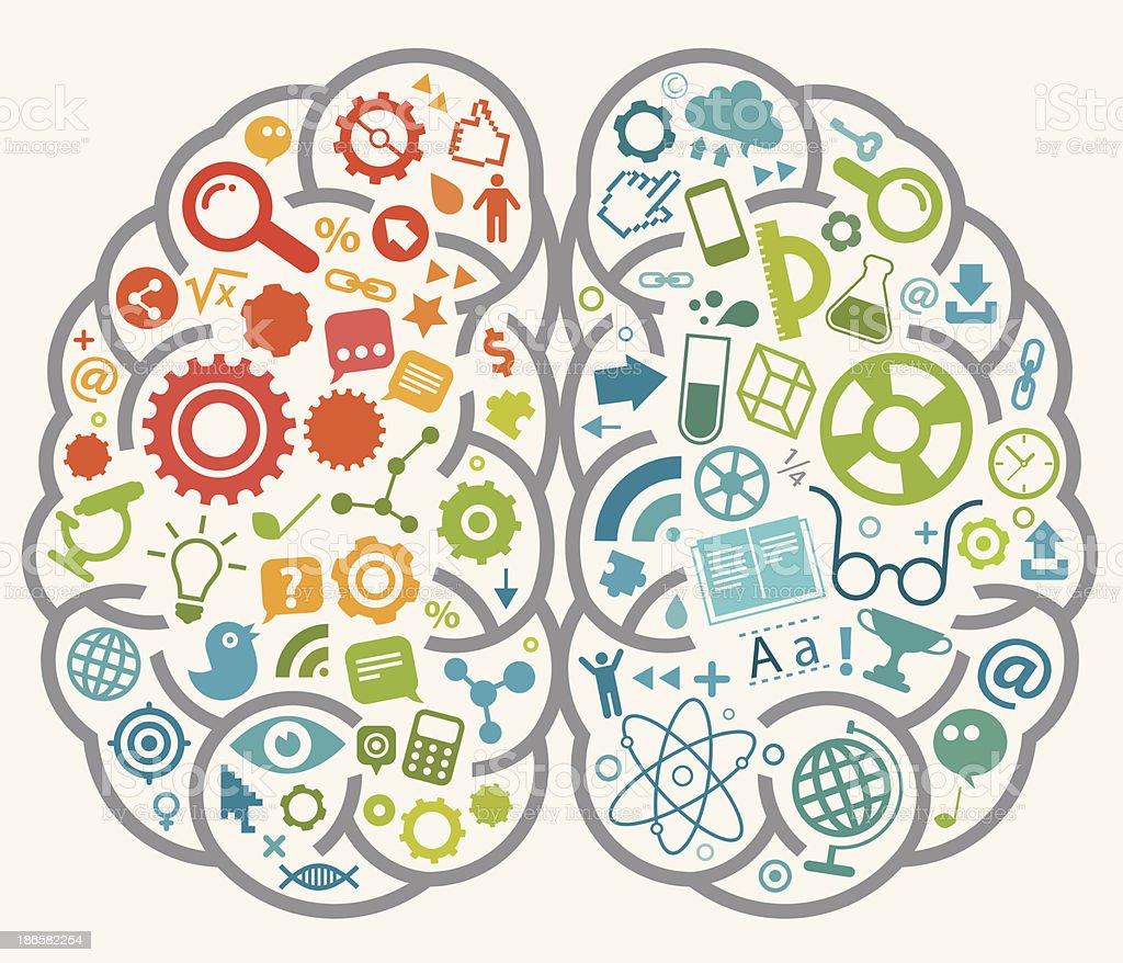 Online Education Brain royalty-free stock vector art