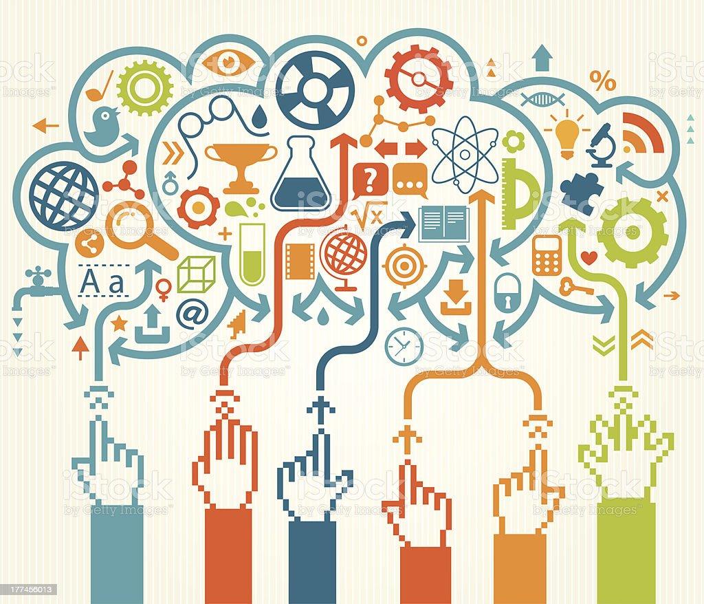 Online Education royalty-free stock vector art