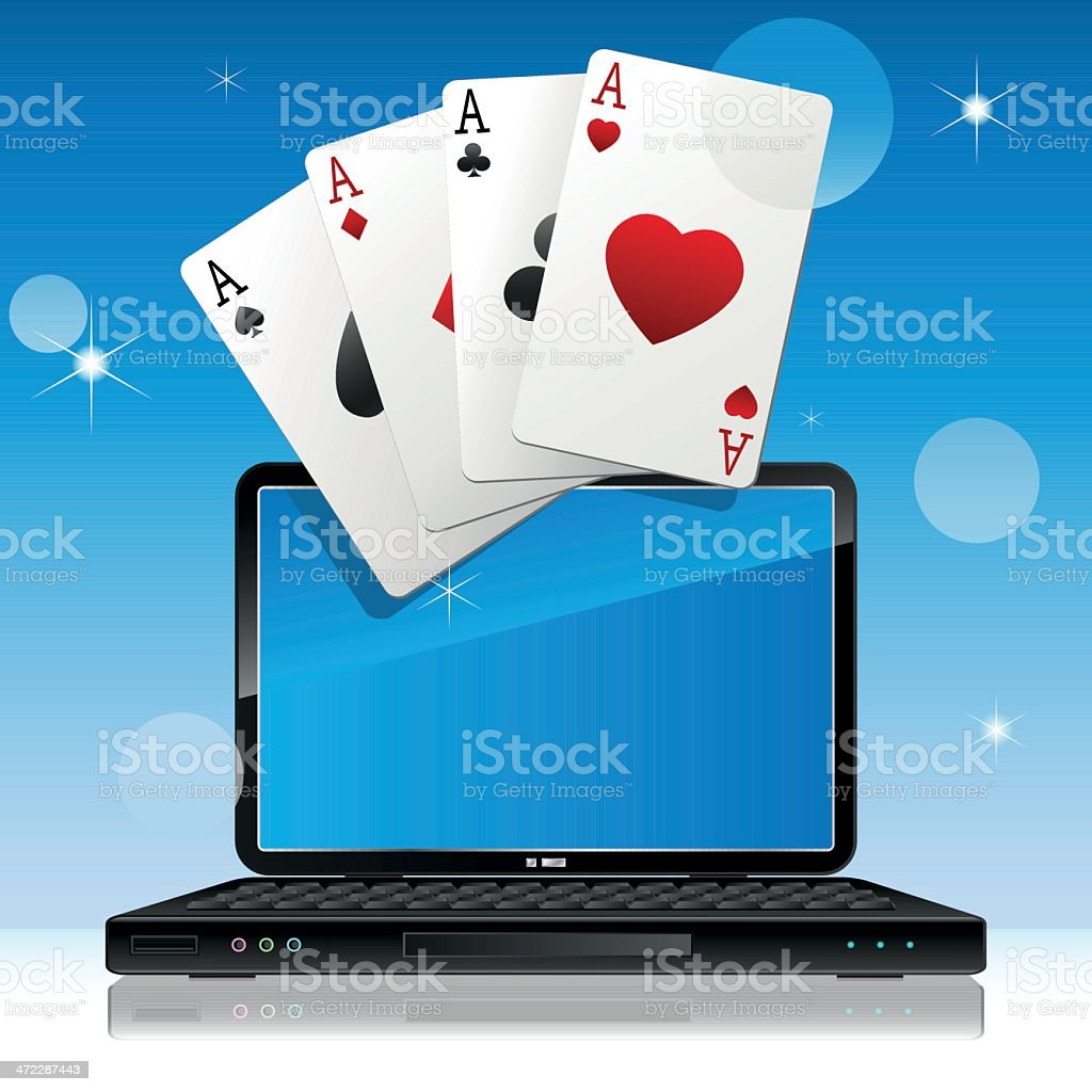 On-line gambling royalty-free stock vector art