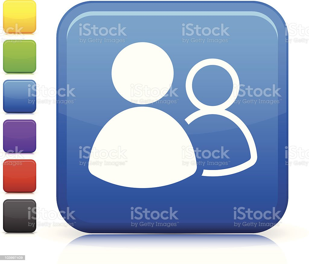 online groups square icon royalty-free stock vector art
