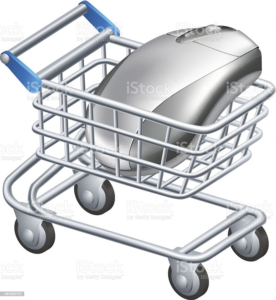 Online internet shopping concept vector art illustration