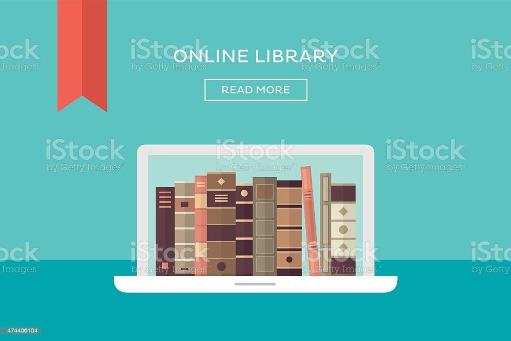 Online library vector art illustration
