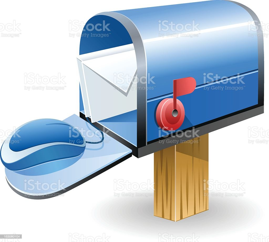 Online Mailbox royalty-free stock vector art
