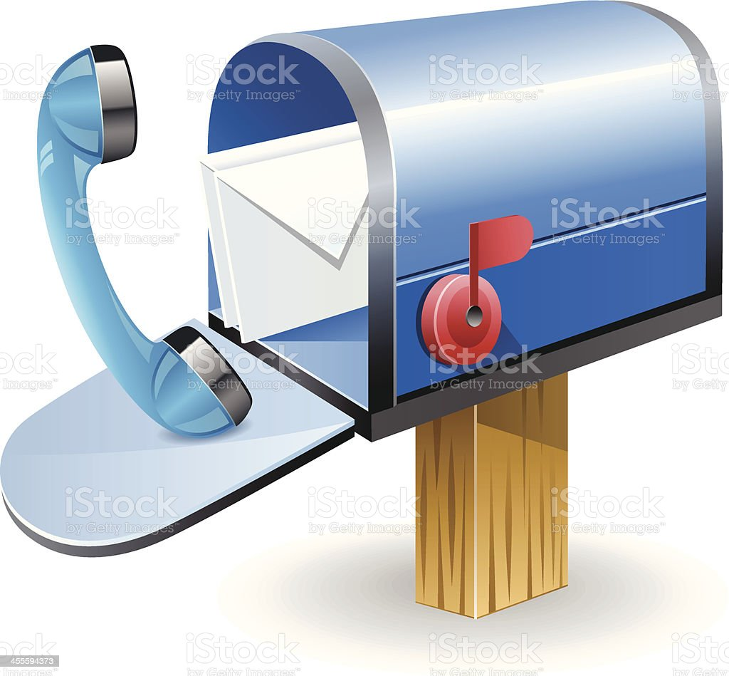 Online Mailbox with receiver royalty-free stock vector art
