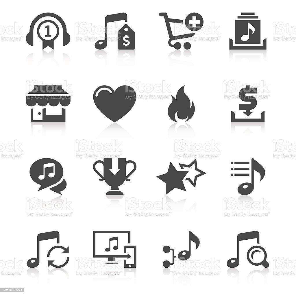 Online Music Store Icon Set   Unique Series vector art illustration
