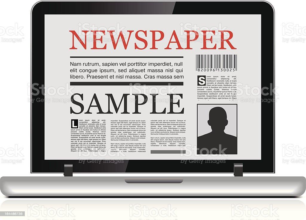 Online newspaper royalty-free stock vector art