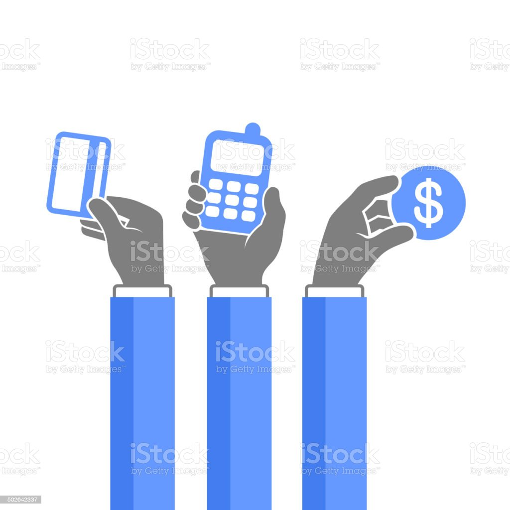 Online Payment Methods Icons Set. Vector royalty-free stock vector art