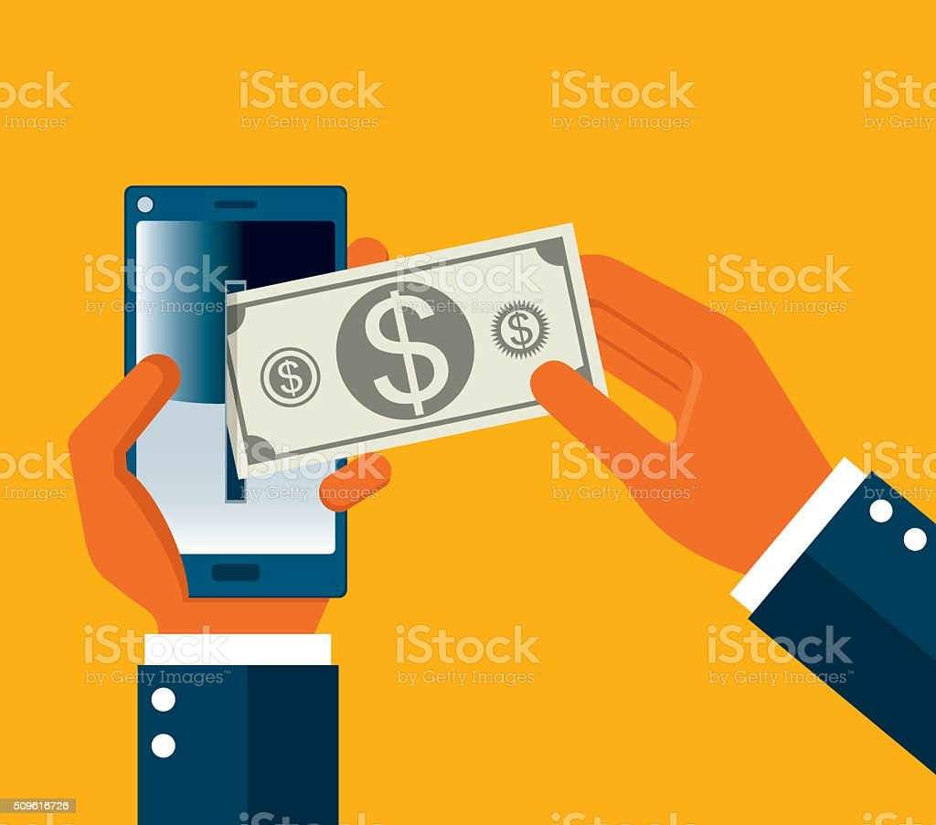 Online Payment vector art illustration