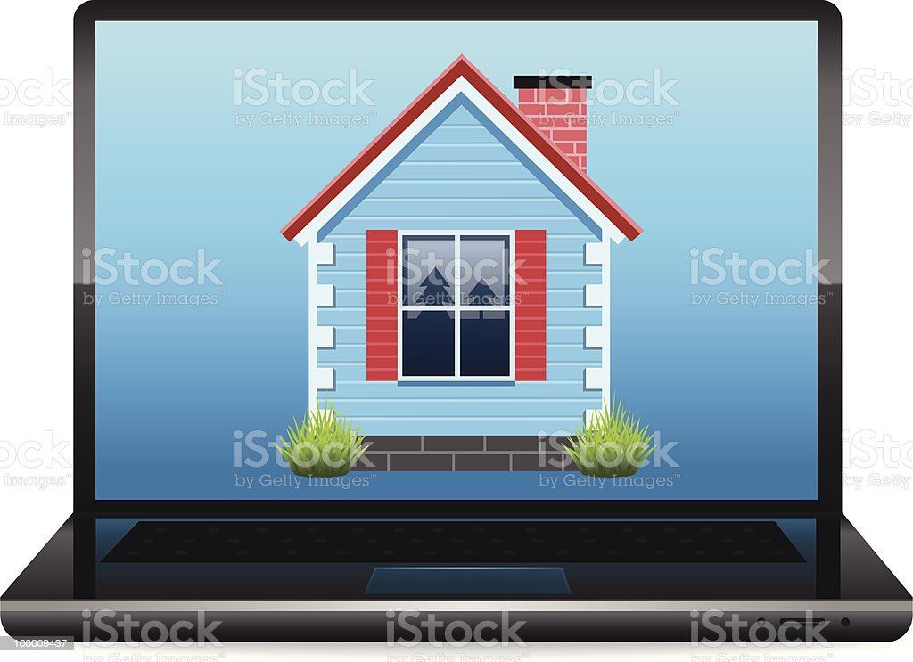 Online Real Estate royalty-free stock vector art