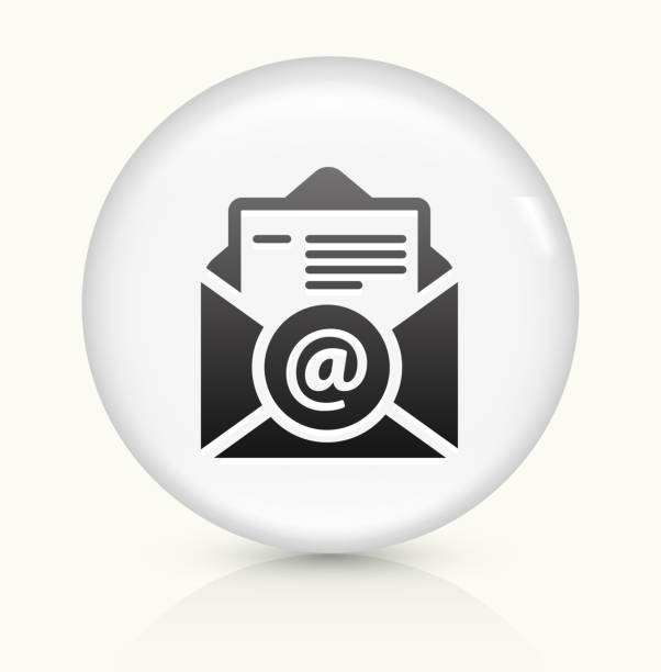 resume icon on white round vector button clip art vector images