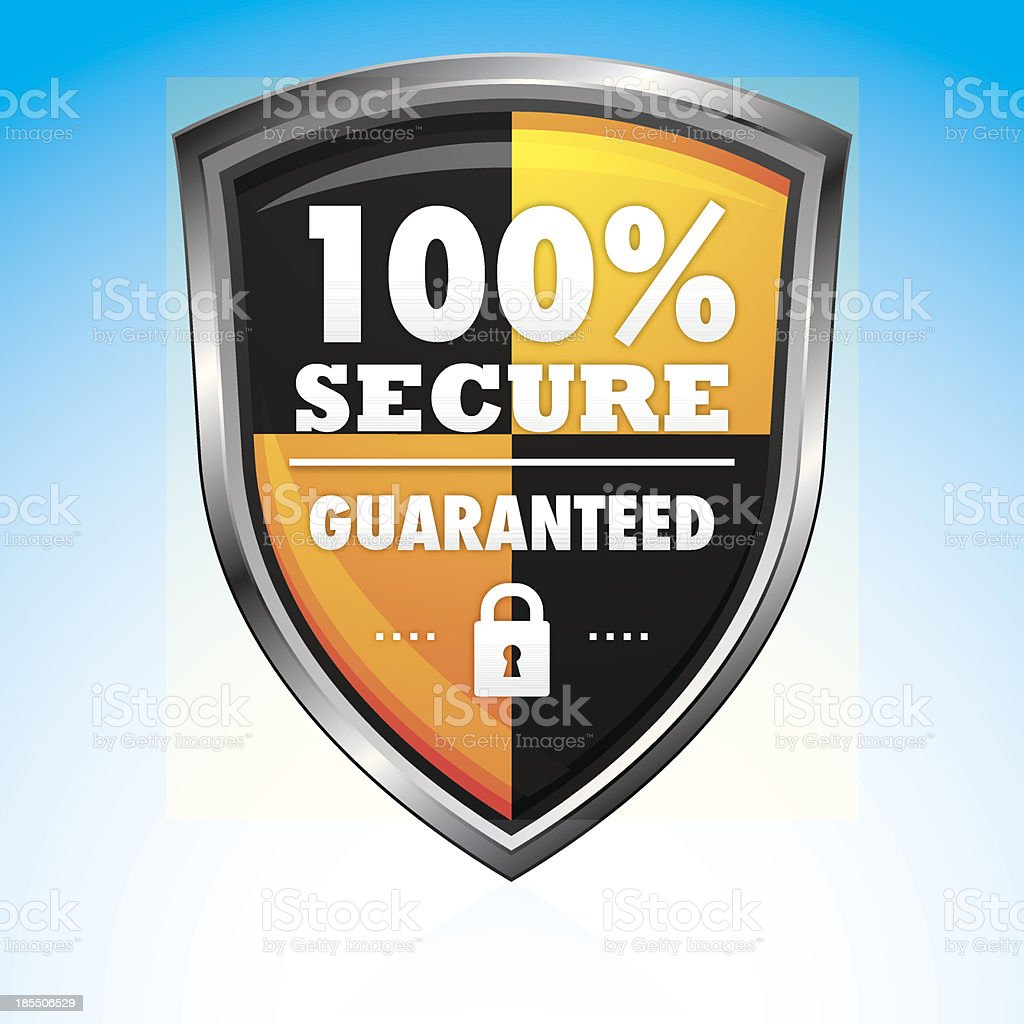 100% online secure shopping icon royalty-free stock vector art