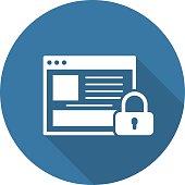 Online Security Icon. Flat Design.