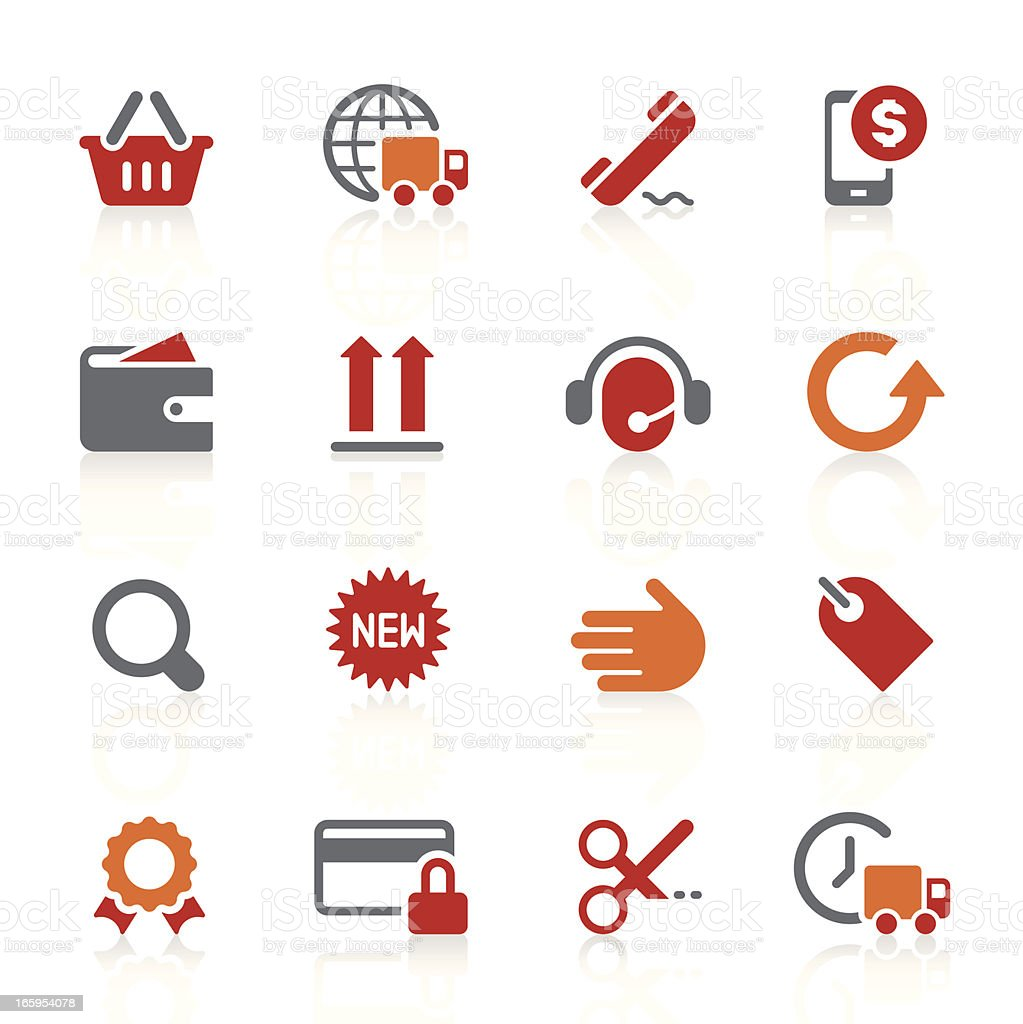 Online shopping and e-commerce icons | alto series vector art illustration