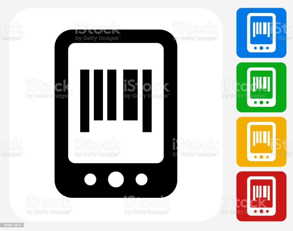 Online Shopping Icon Flat Graphic Design vector art illustration