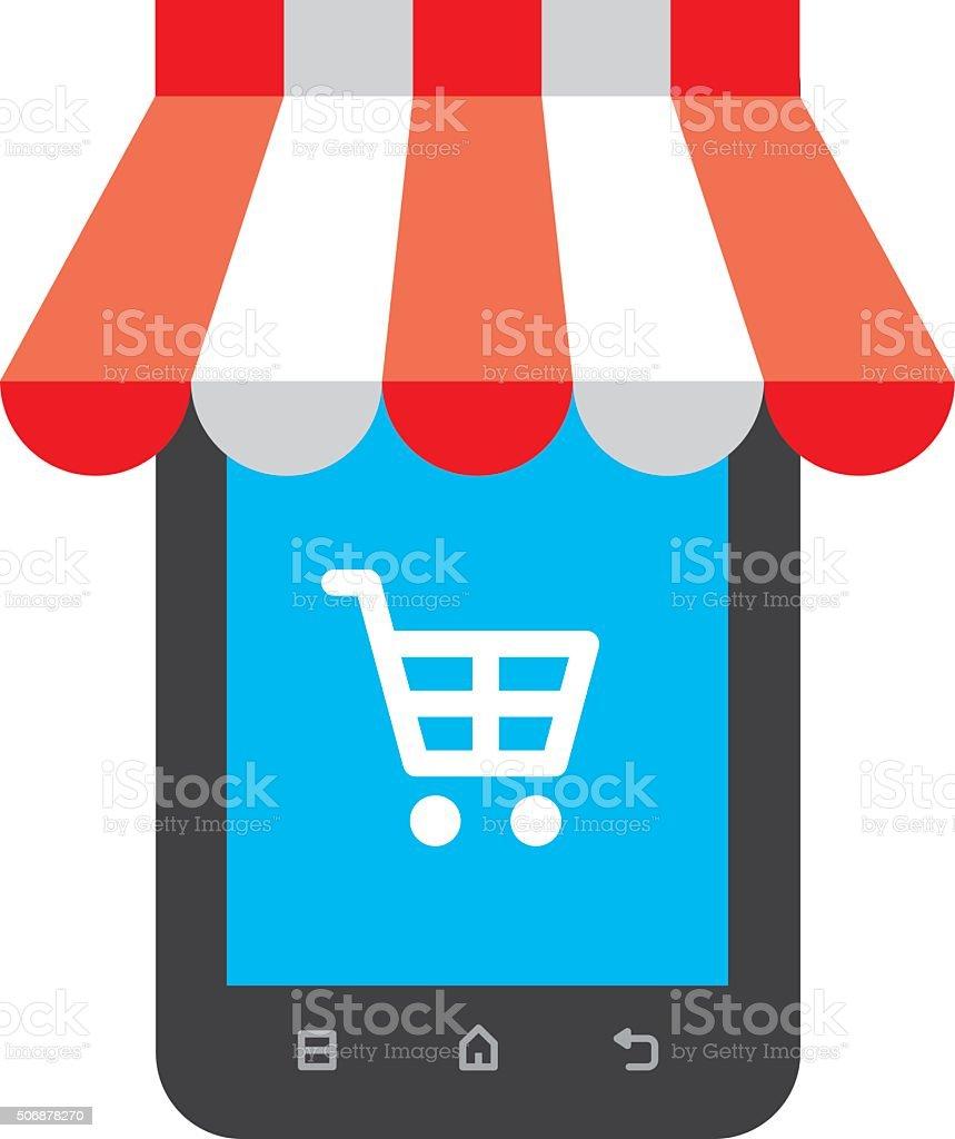 Online shopping icon vector art illustration
