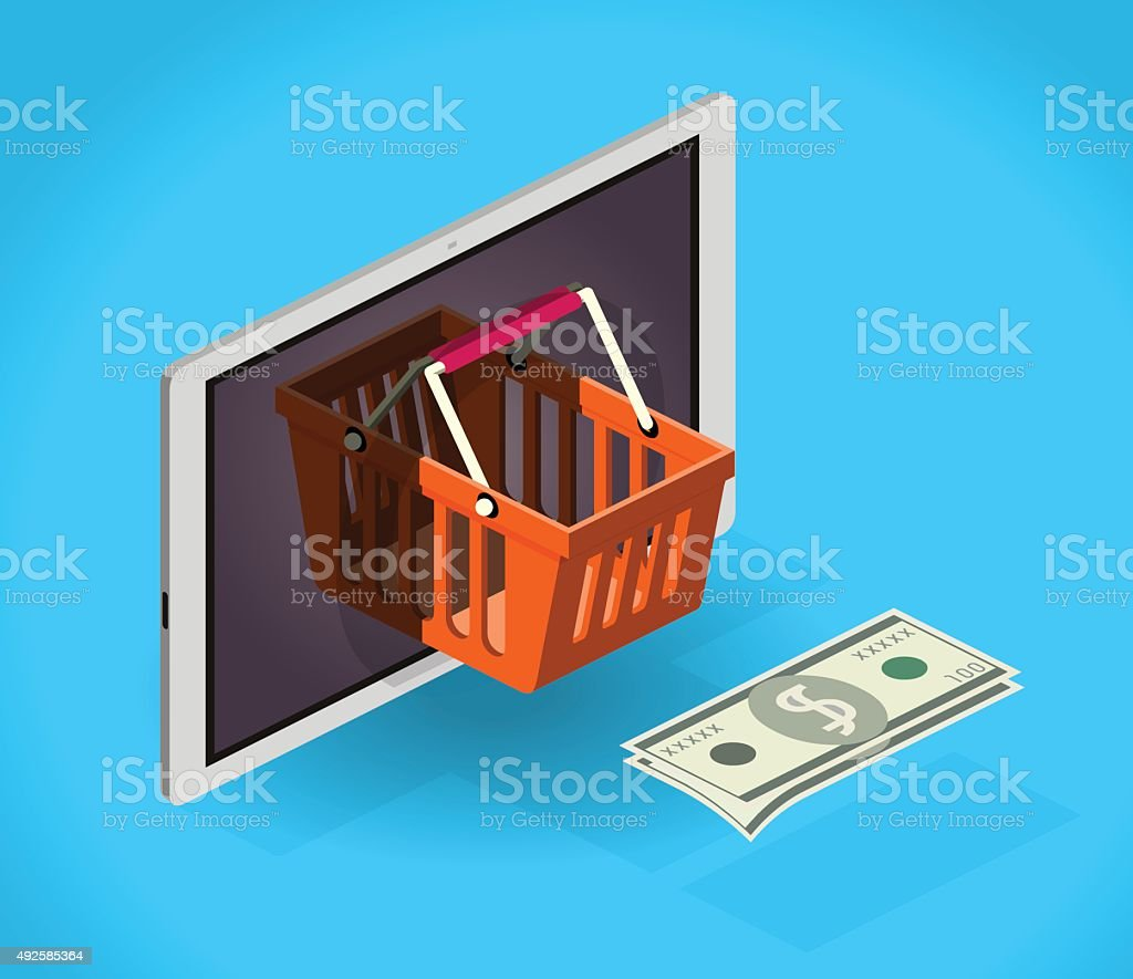 online shopping mobile stock photo