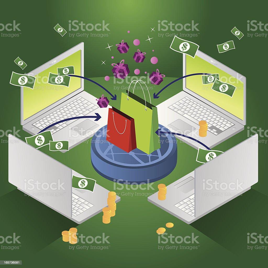 Online shopping royalty-free stock vector art