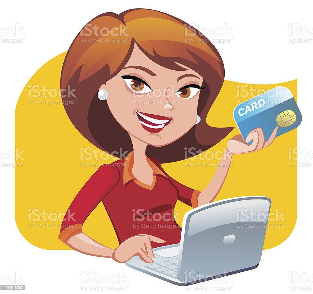 Laptop Shopping Clip Art