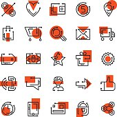 Online store icons