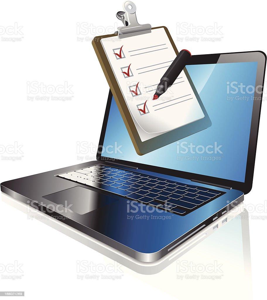 Online survey royalty-free stock vector art
