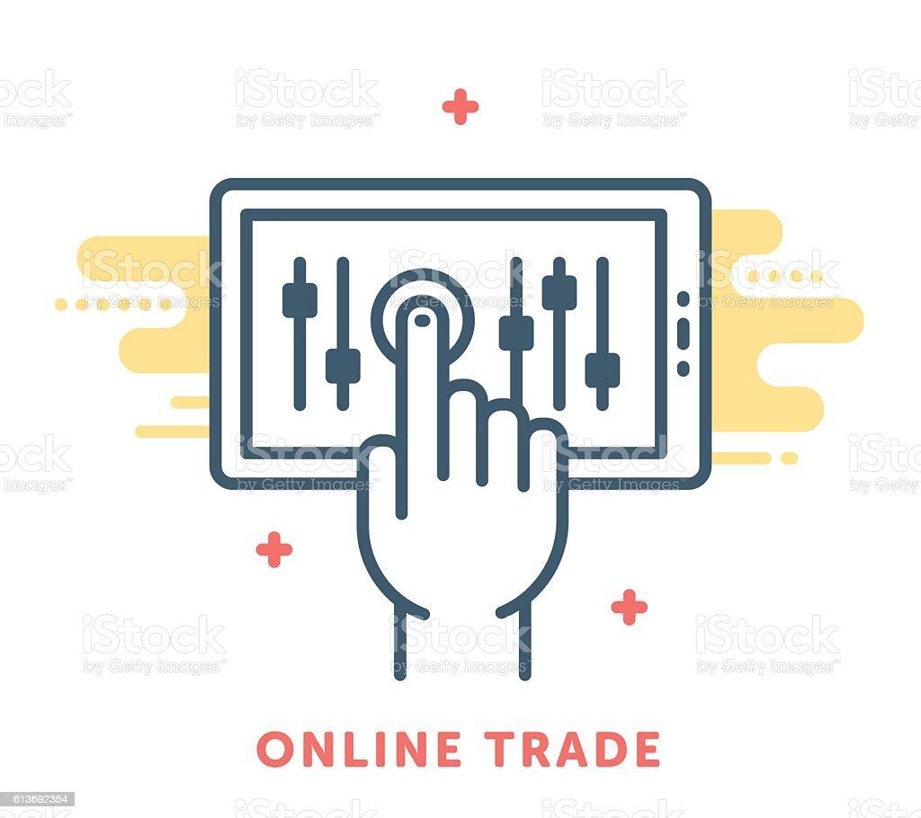 Online Trade vector art illustration