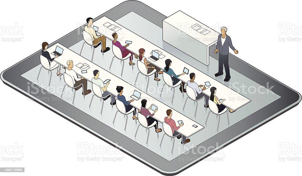 Online University Image vector art illustration