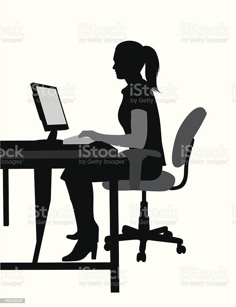Online Vector Silhouette vector art illustration