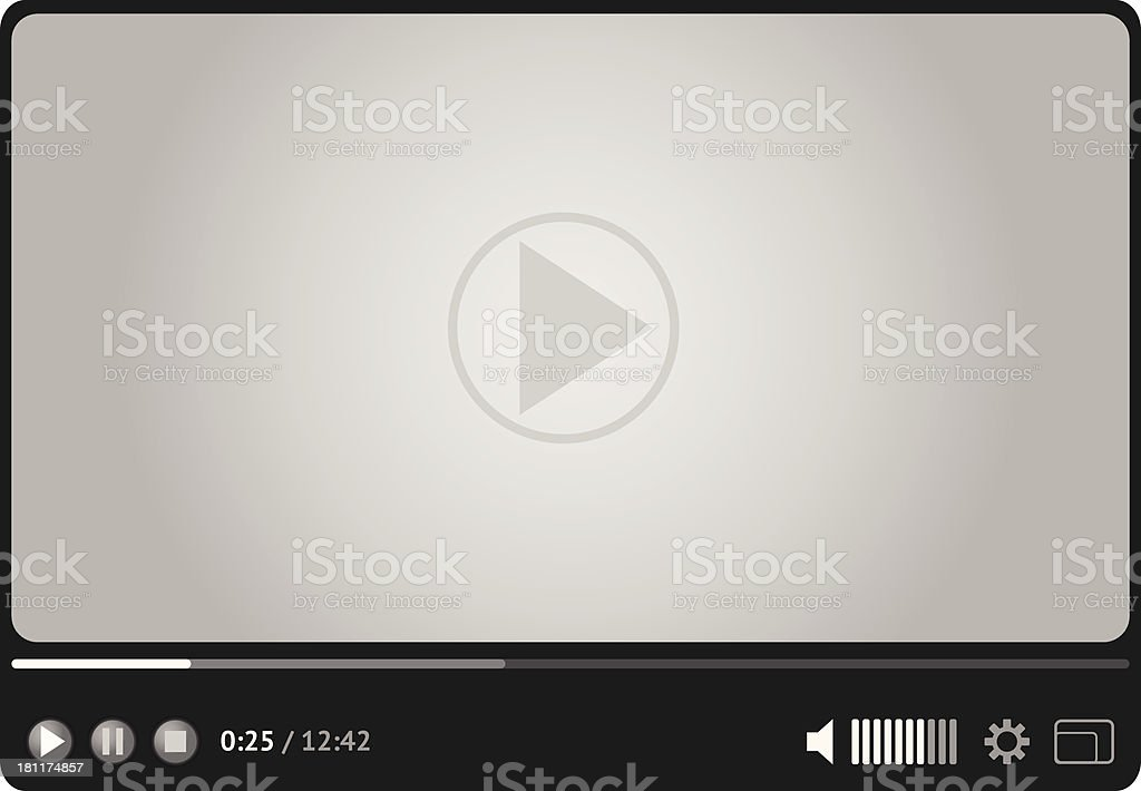 Online video player for web royalty-free stock vector art