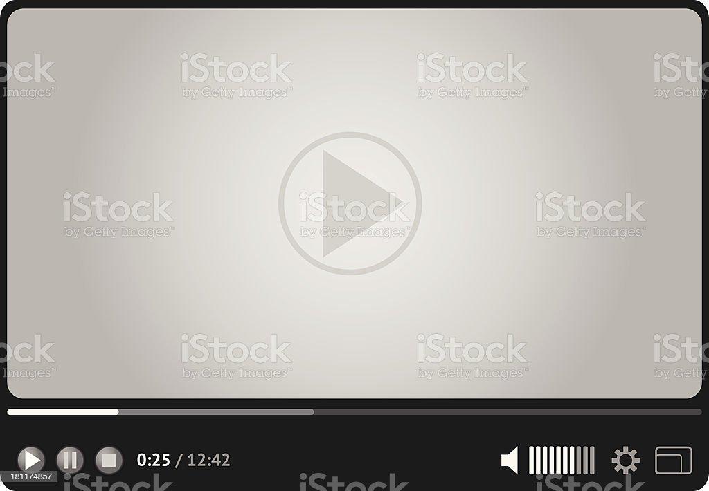 Online video player for web vector art illustration