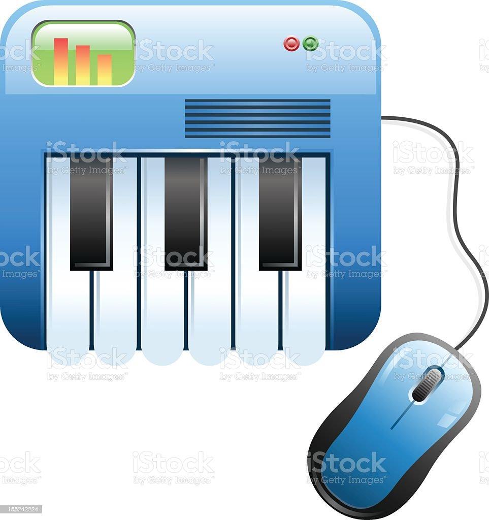 Onlne Music royalty-free stock photo