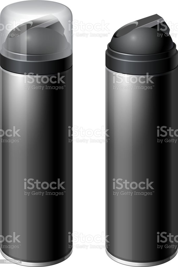 Сontainer with lid and without royalty-free stock vector art