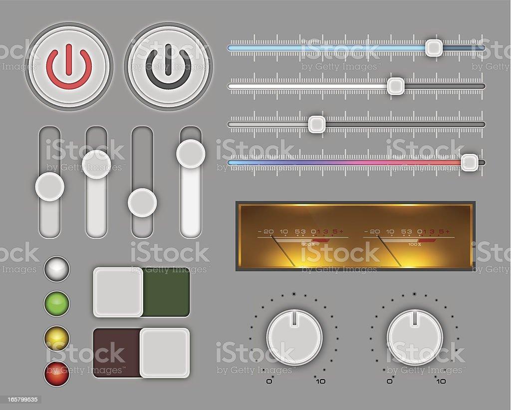Сontrol panel royalty-free stock vector art