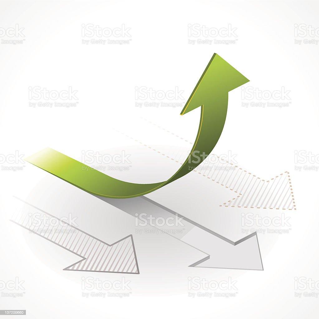 Onwards & Upwards Arrows vector art illustration