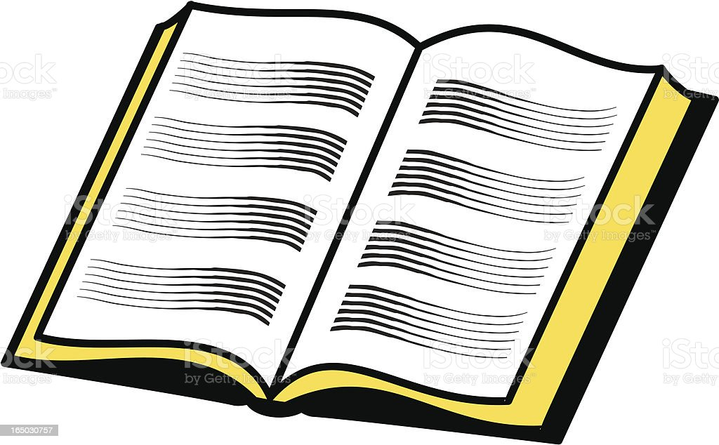 Open book / bible royalty-free stock vector art