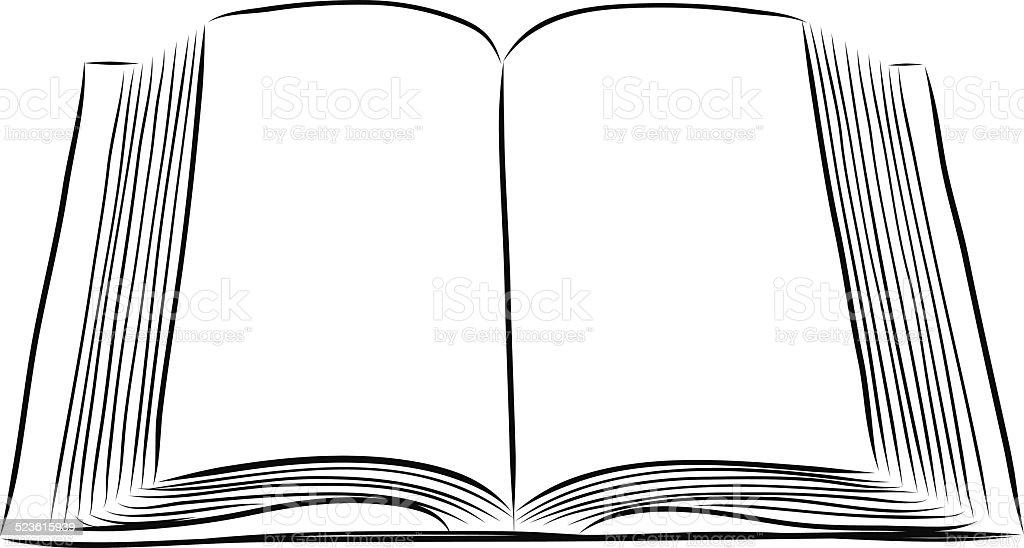Libro Abierto Mano Dibujar Illustracion Libre de Derechos ...