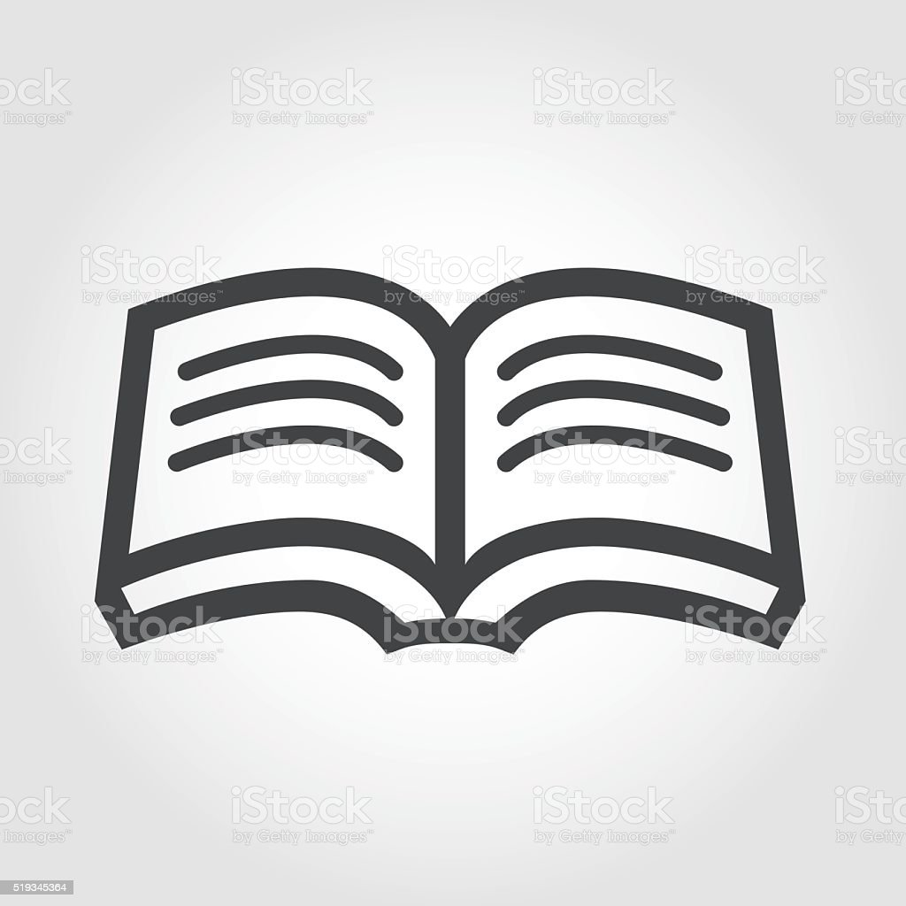 Open Book Icon - Iconic Series vector art illustration